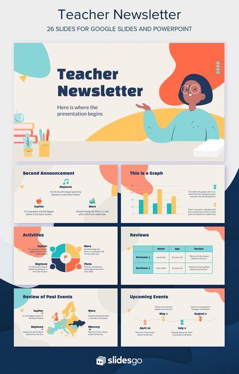 Teacher Newsletter Google Slides Theme & PowerPoint Template