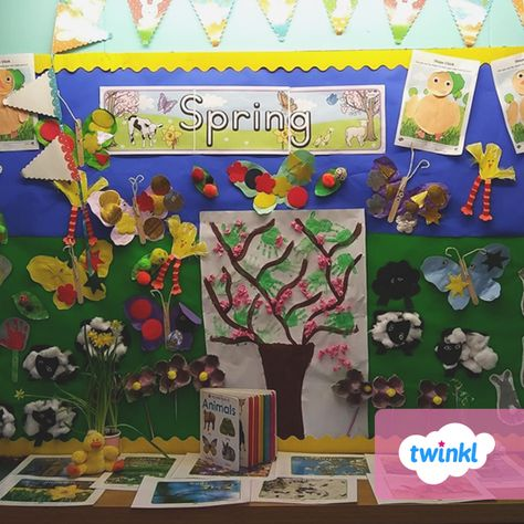 Your children may not be in the classroom, but that doesn't mean they can't make a fun Spring display at home! Download our Spring themed colouring sheets, craft activity pack and display banner to turn a corner of your home into a colourful teaching area. Click to take a look at our Spring craft activity pack.   #spring #display #springdisplay #springcrafts #craftsforkids #crafts #teaching #teacher #teachingideas #twinkl #twinklresources #parents #homeeducation #homeeducate #homeschool