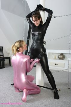 Girls in latex bondage