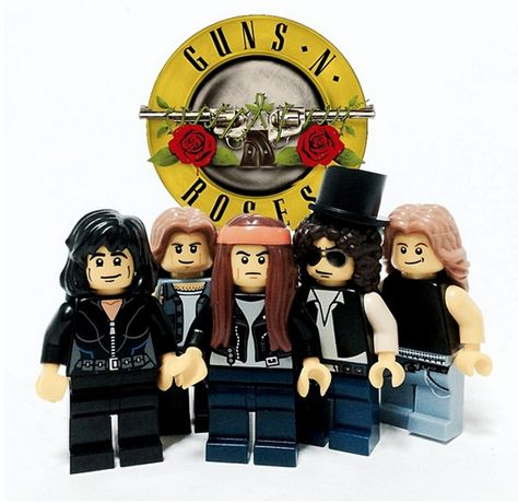 One Guy Turned Famous Rock Bands Into LEGO Minifigs