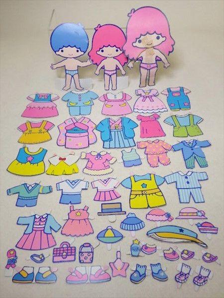 当時物 キキララ ミニきせかえ 紙の着せ替え人 ヤフオク ヴィンテージの紙人形 きせかえ 手作りおもちゃ