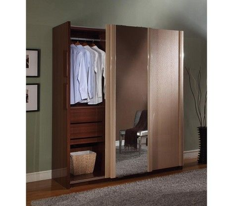 Dreamfurniture Com Liza 3 Sliding Doors Armoire With Images