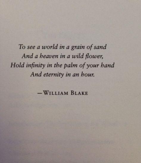 William Blake via:  Modern Girls and Old Fashioned Men.