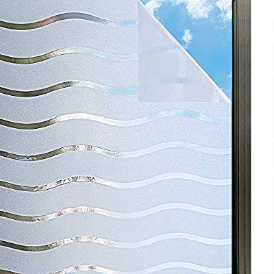 Rabbitgoo Fensterfolie Streifen Selbstklebend Sichtschutzfolie Gestreifte Folie Fur Privatsphare Buro Wellen Muster 44 5 In 2020 Fensterfolie Sichtschutzfolie Fenster