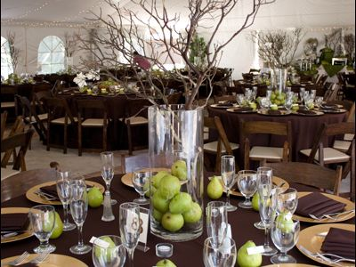 Twigs And Appleshmmm Wedding Centerpiece Reception