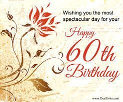 Happy 60th Birthday 60th Birthday Cards Happy 60th Birthday Wishes