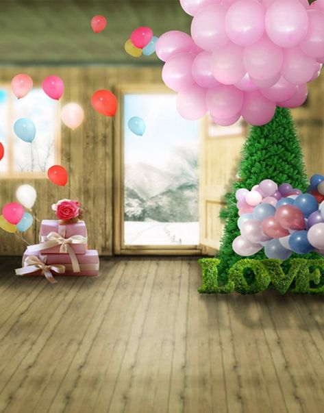 Wooden Floor Tree Gift Pink Balloon Photography Backdrops Photo Props Studio Background 5x7ft In 2021 Photography Backdrops Balloons Photography Studio Background Background foto studio bayi hd
