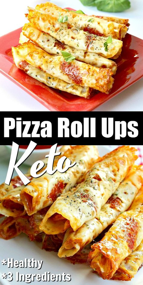 Stay on track with healthy snacks like keto pizza roll ups! These roll ups has all the flavors of a slice of pizza minus the carbs! You& love that you can easily make these pizza roll ups with 3 simple ingredients! Low Carb Keto, Low Carb Recipes, Diet Recipes, Cooking Recipes, Recipes Dinner, Mr Food Recipes, Cooking Fish, Health Recipes, Pizza Recipes