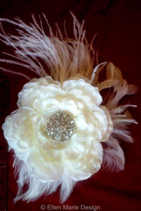 """Suzan"" Peony Hair Flower Fascinator"