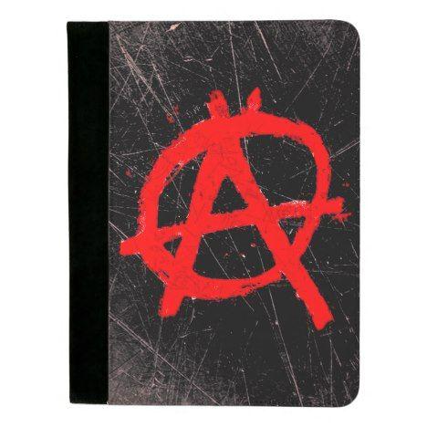 Grungy Red Anarchy Symbol Padfolio Zazzle Com Grungy Anarchy Symbol Padfolio