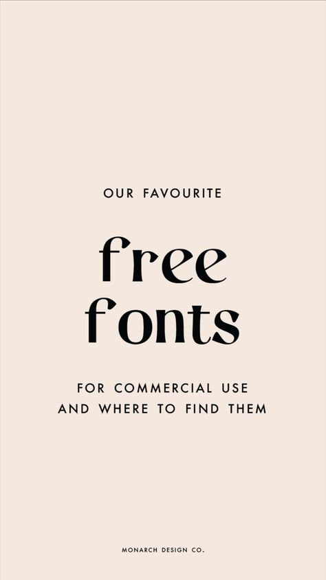 Favourite Free Fonts For Commercial Use