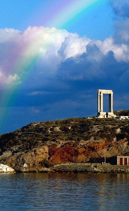 The Gate of Apollo under the rainbow.. Naxos Island (Cyclades), Greece | by…