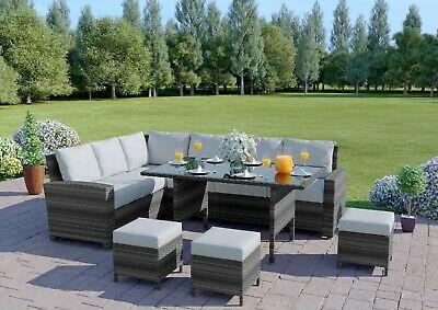 Rattan Garden Furniture Corner Sofa Dining Table Set Stools Bench Free Cover Ebay In 2020 Garden Sofa Set Garden Sofa Rattan Garden Furniture