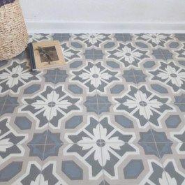 Vinyl Flooring Cornflower Beige And Blue Floral Country