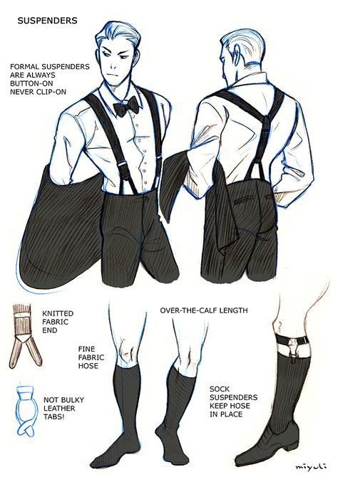 """badass-art-tutorials: """"miyuli: """" I've been studying the classic black tie dress code (mainly from here) so I thought I could share my notes. Maybe they can be helpful to someone else, too. If I made any mistakes or things are really confusing please. Drawing Reference Poses, Design Reference, Black Tie Dress Code, Dress Black, Poses References, Drawing Clothes, Manga Drawing, Character Outfits, Gentleman Style"""
