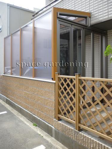 千葉県浦安市 新築庭工事 ナチュラル 目隠し サンルーム 小さなサンルーム ストックヤード ハウスデザイン