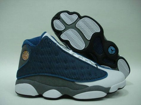 5df8236dbba Air Jordan 13 Retro flints french blue university blue flint gre