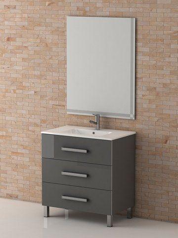 Eviva Evvn531 30gr Libra 27 Inch Gray Modern Bathroom Vanity Wall