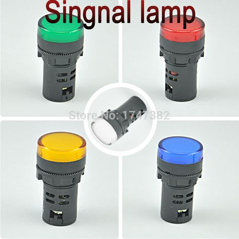 2pcs Pilot Lamp Ad16 16c Dc 24v 12v Led Power Indicator Light 16mm Signal Lamp Panel Mount 12v Led Indicator Lights Led