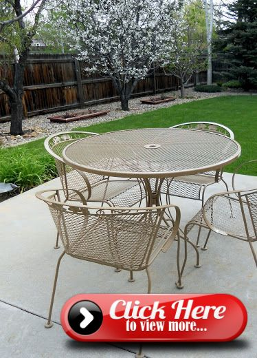Refurbishing Wrought Iron Furniture, Cleaning Rod Iron Outdoor Furniture