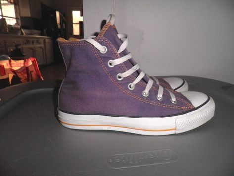 Converse Laker Purple with Yellow