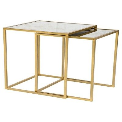 Bring A Touch Of Contemporary Style To Your Space With The Vintage Mirror End Tables From Threshold This Mirrored End Table End Tables Living Room Side Table