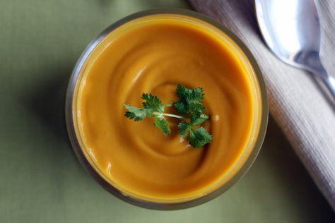 Yummix - Recette de Velouté de patate douce au lait de coco au Thermomix
