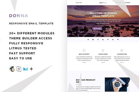Donna – Email template + Builder
