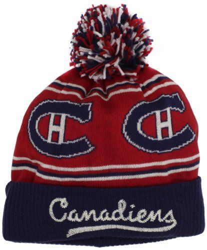 de7e3913d NHL Montreal Canadiens CCM Cuffed Knit Hat With Pom, One Size,Red adidas.  $19.95