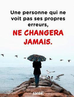 Une Personne Qui Ne Voit Pas Ses Propres Erreurs Ne Changera Jamais Never Change Person French Braid