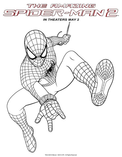 Spider Man 2 Spiderman Coloring Spider Coloring Page Avengers Coloring Pages