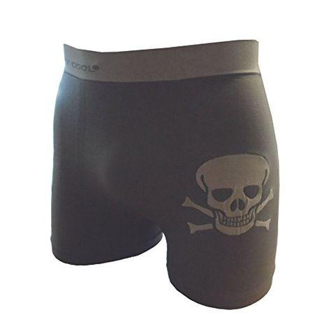 6db9fb47b238 Crazy Cool Seamless Fun Boxer Briefs Boy Short Underwear 6-Pack (Skull-6Pack )