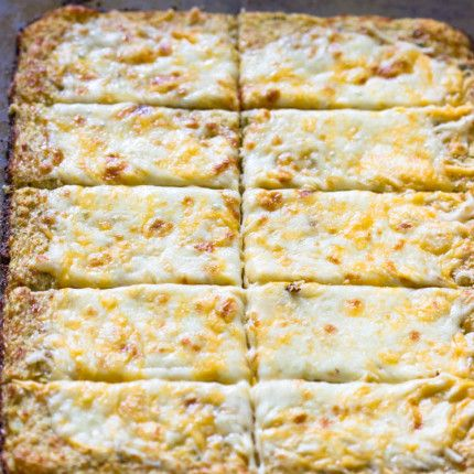 Low Carb Cauliflower Crust Bread Sticks Gimme Delicious