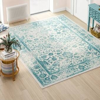 Howton Blue Gray Off White Ivory Area Rug Area Rugs Modern Area Rugs Teal Area Rug