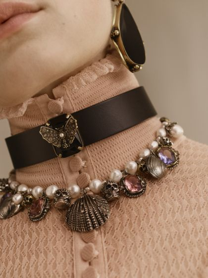 Shop Women's Butterfly Choker from the official online store of iconic fashion designer Alexander McQueen.