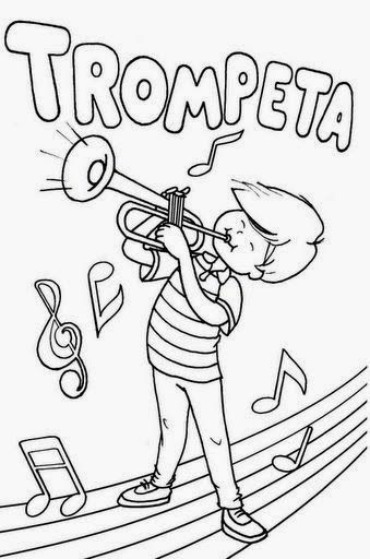 Dibujos Para Colorear Maestra De Infantil Y Primaria Instrumentos De Viento Para Colorea Dibujos De Instrumentos Musicales Musica Para Ninos Clase De Musica