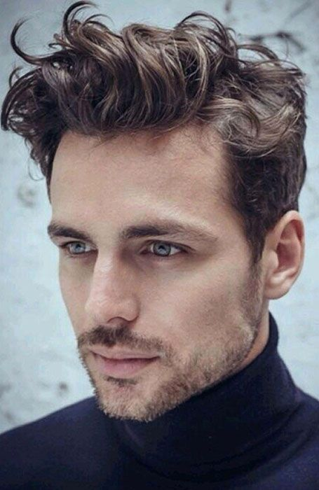 15 Hairstyles For Men With Big Foreheads Curly Hair Men Mens Hairstyles Short Wavy Hair Men