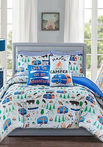 Lightning Bug Happy Camper Comforter Set With Images Comforter
