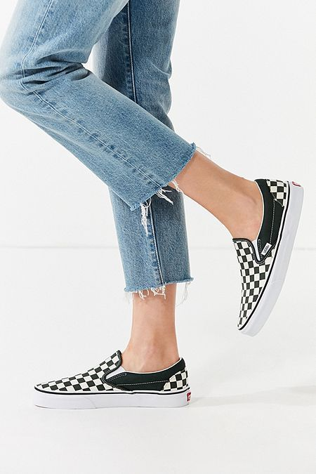 Gaviota rural Comenzar  Vans Classic Slip-On Checkerboard Sneaker | Vans slip on, Slip on sneakers,  Vans