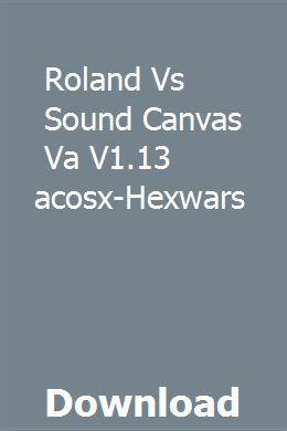 Roland Vs Sound Canvas Va V1 13 Macosx-Hexwars download full online