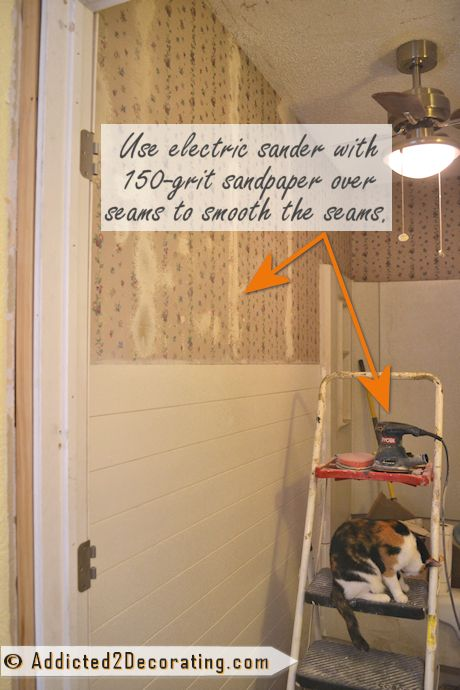 Bathroom Makeover Day 9 How To Remove Wallpaper Without Actually Removing Wallpaper Addicted 2 Decorating Bathroom Makeover Removable Wallpaper Painting Over Wallpaper