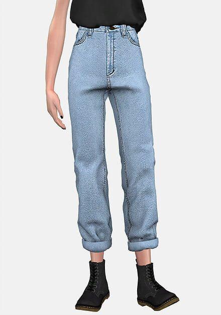 replicas retro deft design BF Boyfriend Jeans for The Sims 4   cc   Sims 4 clothing ...