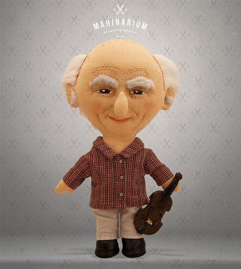 Selfie doll   Uncle George custom doll caracter doll by Mahinarium
