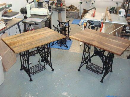 Old Treadle Sewing Machine Desks