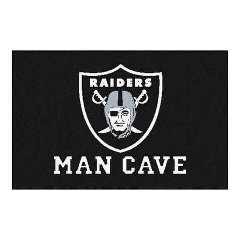NFL Oakland Raiders Black Man Cave 1 ft. 7 in. x 2 ft. 6 in. Accent Rug