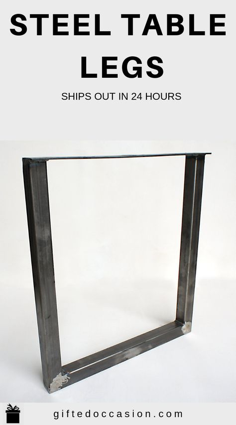Steel Table Legs U Shape 2x2 Diy Table Legs Diy Table Legs Diy Table Steel Table Legs
