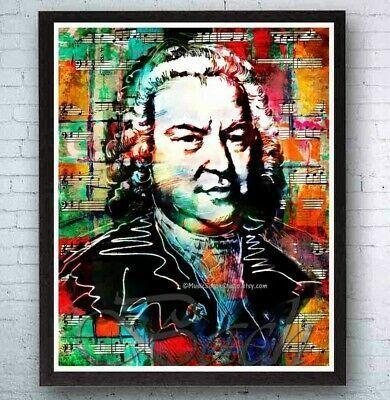 Bach Composer Music Legends Pop Art Wall Johann Sebastian Bach Sebastian Bach Pop Art Poster Prints