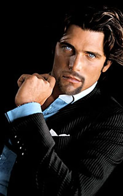 This is an altered photo of Ignacio (Nacho) Figueras, Argentine Polo player. JR Ward has said this altered photo (blue eyes, goatee) is her vision of Vishous. Goatee Styles, Blue Eyed Men, Black Dagger Brotherhood, Black Curly Hair, Gorgeous Eyes, Amazing Eyes, Portraits, Good Looking Men, Facial Hair