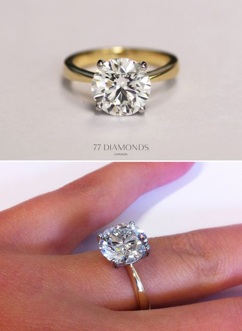 totally blown away by the beauty of this Bespoke ring - set with a 3 carat central diamond!