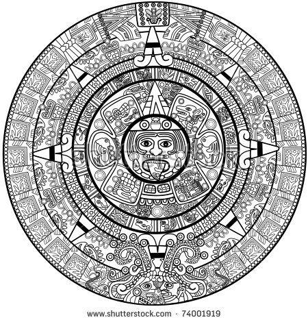 Calendario Azteca Vectores.Vector Maya Calendar Paint Tatuaje Mexicano Tatuajes